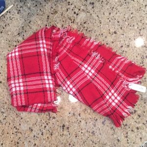 Brand new Charming Charlie's Red Blanket Scarf!!